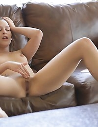 Sweet sexy redhead Abby Paradise slides her eager fingers..