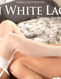 Al dressed up in beautiful white lace, Natalia gives her..