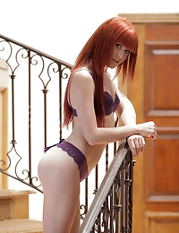 Redhead Elle Alexandra is so hot and horny that she has to..